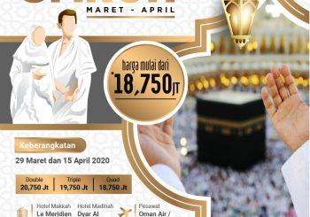 Promo Umroh Bulan Maret-April